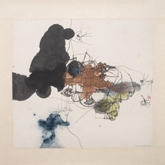 Dream 1, Contemporary Abstract Chinese Art Drawing Painting Ink Paper Black