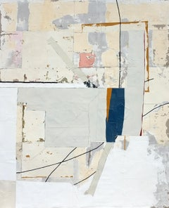 'Fortnight' by Antoine Puisais, mixed-media on linen, abstract, geometric