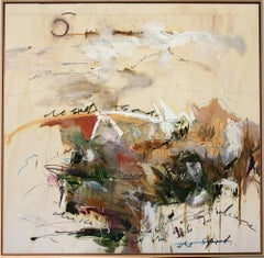 'Raw Earth' abstract mixed-media by Stefan Heyer, collage