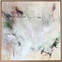 'Shunya II' abstract mixed-media on wood by Stefan Heyer, collage, minimalism