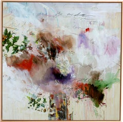The Vision by Stefan Heyer, Contemporary Abstract Collage, Mixed-media on Wood