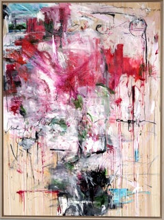 Try Love, Stefan Heyer, Original Abstract Expressionist Painting, Mixed-media