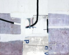 Untitled III, Contemporary Minimalist Art Abstract Mixed media Purple Canvas