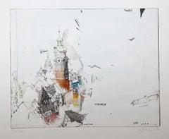 Innsbruck, Alexander Befelein, Etching, Cityscape Print,