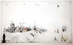Sankt Petersburg, Alexander Befelein, Etching, Minimalist Print, Cityscape