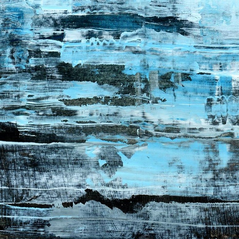 'Memories' by Rolando Duartes, abstract painting, acrylic on board For Sale 1