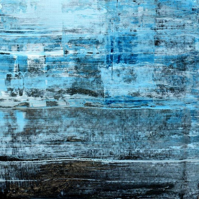 'Memories' by Rolando Duartes, abstract painting, acrylic on board For Sale 3