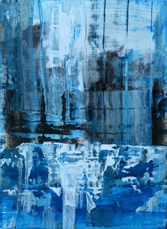 'Winter Reflections' by Rolando Duartes, abstract painting, acrylic on board