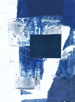 I'm Picturing You Naked, Antoine Puisais, Abstract Mixed media, Collage, Blue