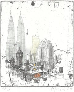 Kuala Lumpur, Alexander Befelein, Etching, Architecture, Limited Edition, Print