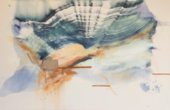 Comes in Waves by Rebecca Stern, abstract expressionism, mixed media
