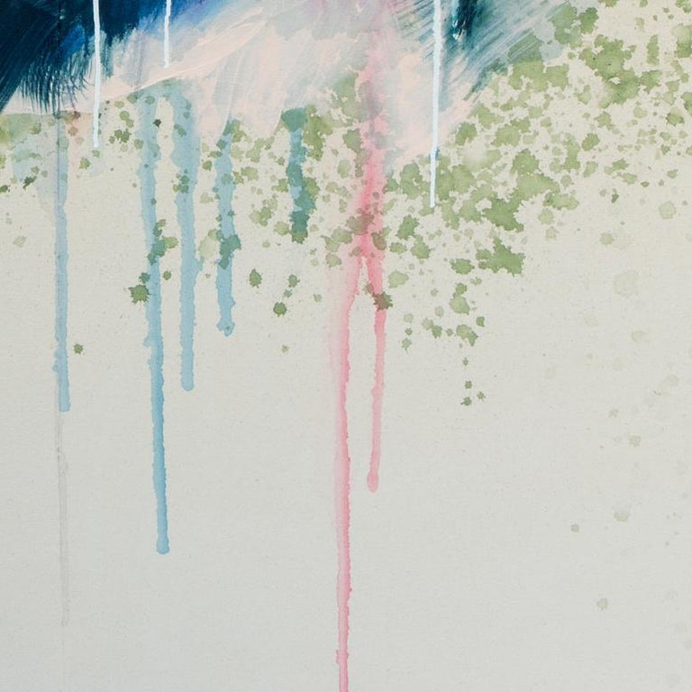 Mountains from Scratch by Rebecca Stern, abstract expressionism, mixed media For Sale 3