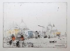 'Venezia' by Alexander Befelein etching, cityscape, print