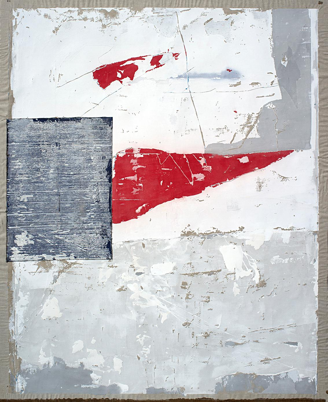 Long Live the Idols, Contemporary Art Abstract Mixed media Red Grey Gray Collage