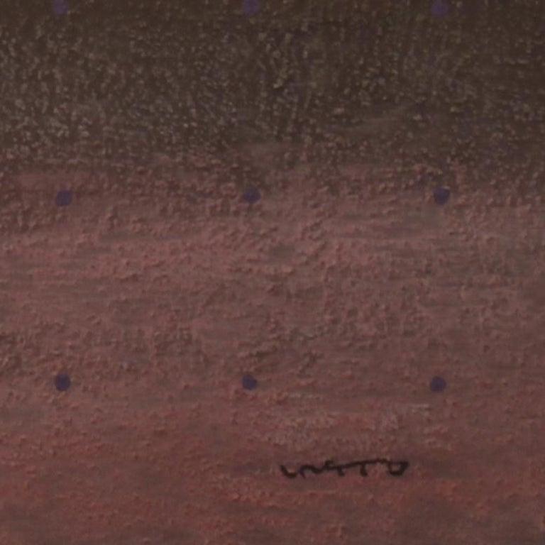 Purple Rain, Yuriy Zakordonets, Abstract Painting, Minimalist, Monochrome, Pink For Sale 3
