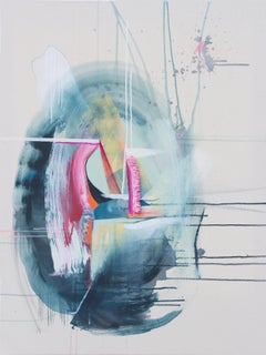 'Pull' by Rebecca Stern, abstract expressionism, mixed media