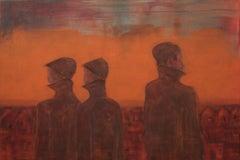 'Black Realtors' by Yuriy Zaordonets, acrylic on canvas, abstract