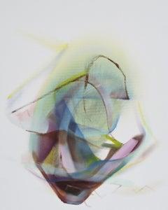 Crystal, Naomi Yuki, Abstract Expressionism, Small Oil Painting, Spiritual