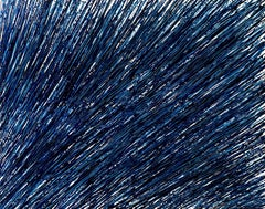 Beginning of the stop 49, S. Choi, Abstract Expressionism, Linear, Big Dark Blue