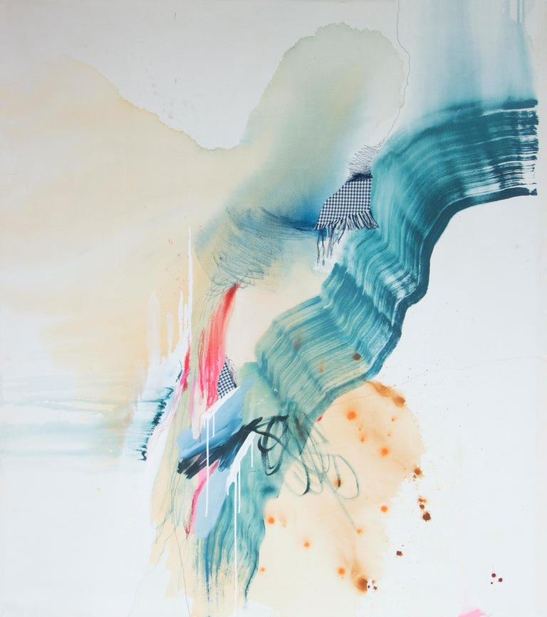 When It Matters Most II, Rebecca Stern, Abstract Expressionism, Mixed-media - Painting by Rebecca Stern