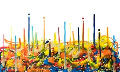 Cross-section of the moment 1, Contemporary Abstract Oil Painting Canvas Yellow