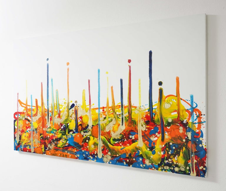 Cross-section of the moment 1, Contemporary Abstract Oil Painting Canvas Yellow - Orange Landscape Painting by Seungyoon Choi