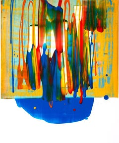 Beginning of the stop 8, S. Choi, Asian Oil Abstract Expressionist, Bold Pattern
