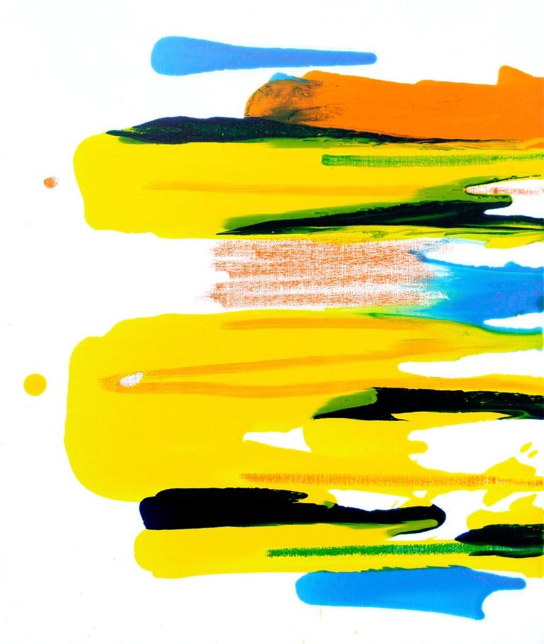 Seungyoon Choi Abstract Painting - Cross-section of the moment 23, S. Choi, Oil Abstract Expressionism, Yellow