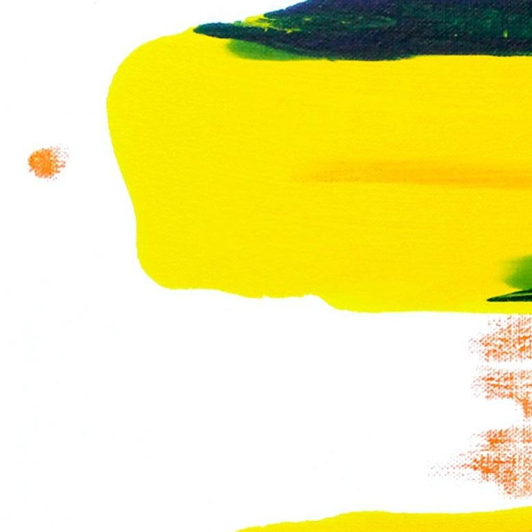 Cross-section of the moment 23, S. Choi, Oil Abstract Expressionism, Yellow - Painting by Seungyoon Choi