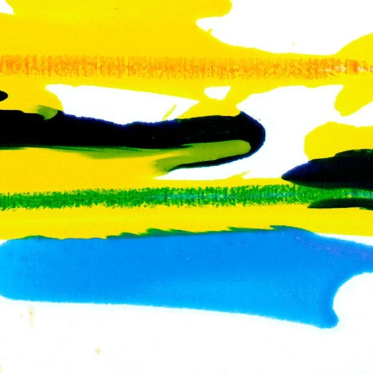 Cross-section of the moment 23, S. Choi, Oil Abstract Expressionism, Yellow For Sale 1