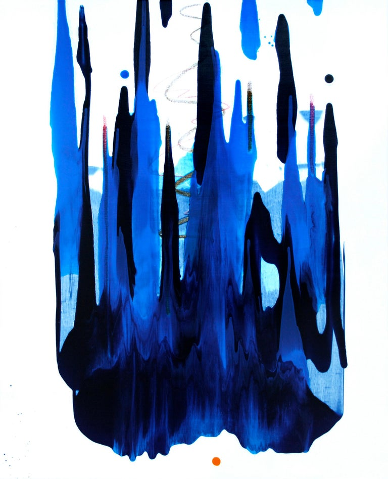 Seungyoon Choi Abstract Painting - Cross-section of the moment 24 by S. Choi, abstract expressionism, fauvism