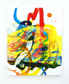 Cross-section of the moment 39, S. Choi, Abstract Expressionism, Colorful, Oil