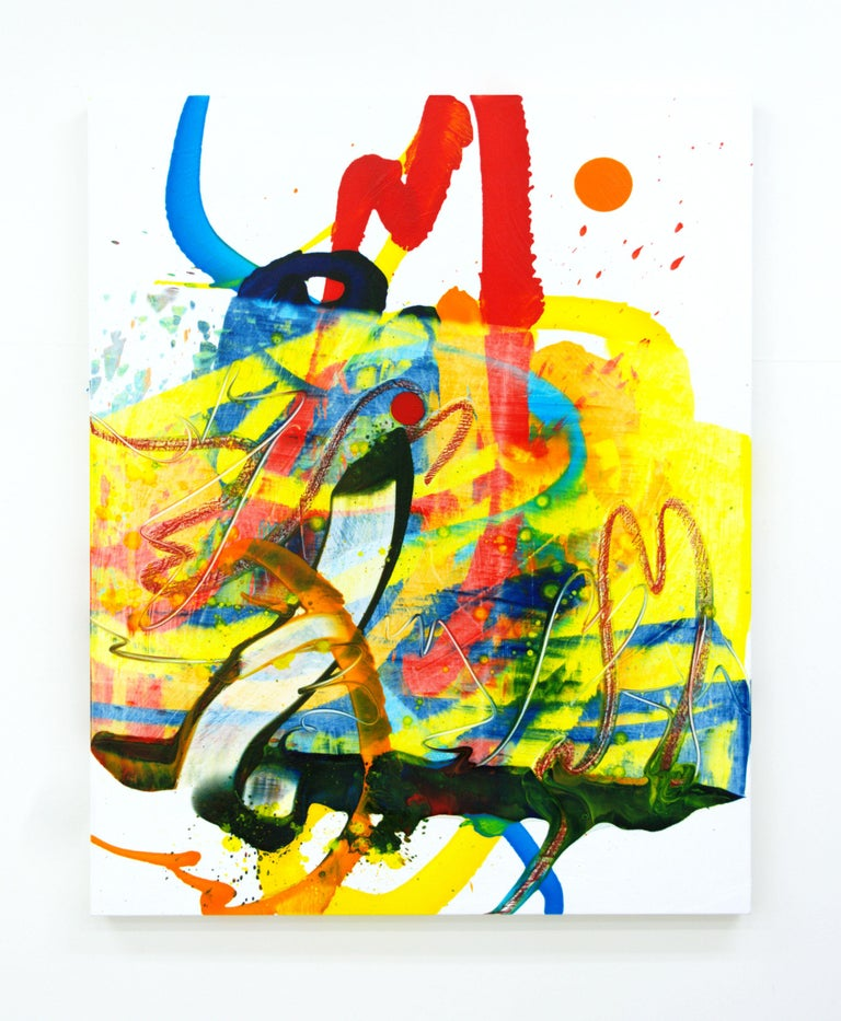 Seungyoon Choi Abstract Painting - Cross-section of the moment 39, S. Choi, Abstract Expressionism, Colorful, Oil