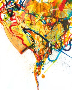 Cross-section of the moment 43, S. Choi, Abstract Expressionism, Yellow Painting