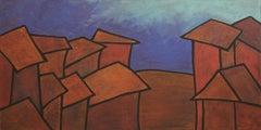 Real Estate, Yuriy Zakordonets, Figurative, Minimalist, Acrylic Painting