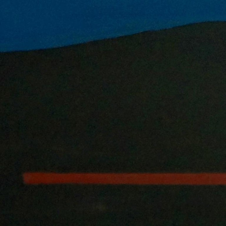 Vertical Horizon, Contemporary Minimalist Abstract Painting Landscape Blue Black For Sale 1