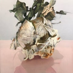 Homage to Francesca Woodman, Irena Chrul, Contemporary Surrealist Oil Painting
