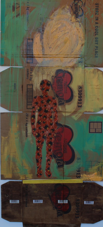 Sensual Snare, Mwamba Mulangala, Mixed-media, Conceptual African Art, Recycling