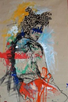 Women's Identity V, Mwamba Chikwemba, Charcoal Drawing, Feminism, African Art
