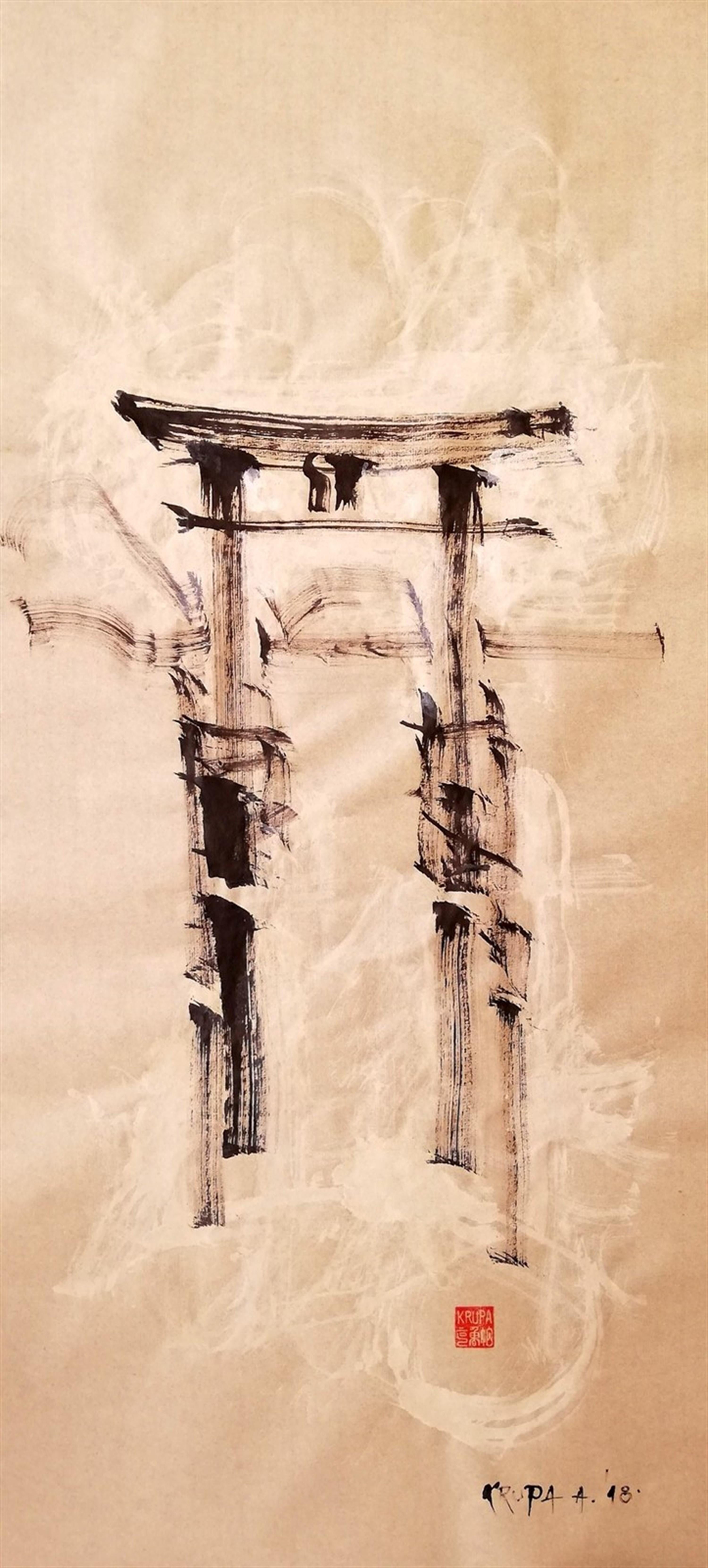 Today I remembered, Contemporary Abstract Art Ink Painting Calligraphy Landscape