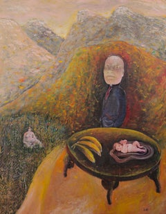 My Mother's Lover, Szilard Szilagyi, Oil Painting, Surrealist, Expressionist