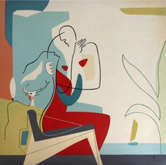 Bay of Love, Bernard Simunovic, Abstract Geometric, Figurative, Modern