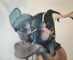Échos d'égos, Irena Chrul, Abstract Oil Painting, Surrealist, Female Portrait