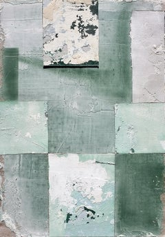 Blossom, Antoine Puisais, Contemporary Abstract Mixed Media, Green Collage