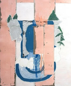 Chinese Restaurant, Antoine Puisais, Contemporary Abstract Mixed Media, Collage