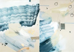 Off Kilter Spirits II, Rebecca Stern, Abstract Expressionist Mixed media Diptych