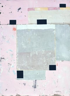 Kumquat, Antoine Puisais, Contemporary Abstract Mixed Media,  Pink Collage