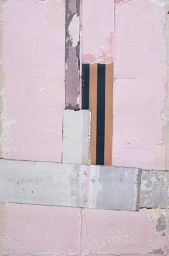 Untitled VIII, Antoine Puisais, Contemporary Abstract Mixed Media, Pink Collage