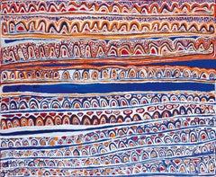 'Kaarkurutintja (Goanna Country)' Australian Aboriginal Art by Narputta Nangala