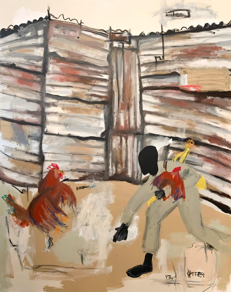 Jammie Holmes Abstract Painting - To Feed A Nation